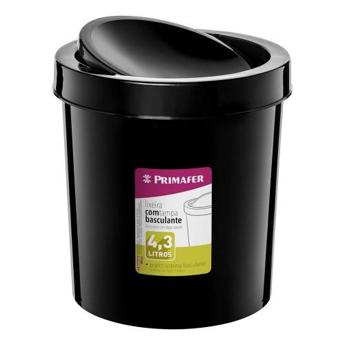 LIXEIRA BASCULANTE 4,3L PLASTICO PR - PC